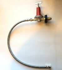 "Adjustable 0 to 40psi Propane Regulator H/W POL 21"" Hose LP Gas burners fryers"