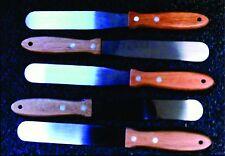 """5 NEW 11"""" Screen Printing Stainless Steel Ink Spatulas Wood Handle"""