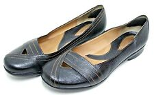 Clarks Artisan Leather Shoes Loafer Black Size 9 M Never Worn EUC