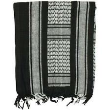 "Black & White Tactical Shemagh/Scarf - Superb Head & Neck Protection/43"" x 41"""