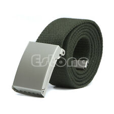 Unisex Waist Belt Mens Boys Plain Webbing Waistband Casual Canvas Belt NEW