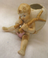 Vintage UCAGCO UCG  Hand Painted Child Figurine with Egg Shaped VASE - JAPAN