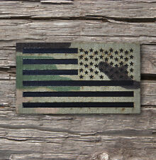 "Reversed Infrared reflective Multicam IR US Flag Patch 3.5x2"" Special Forces"