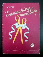 McCall Dressmakling Made Easy Vintage Home Sewing Book 1948