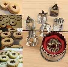 7Pcs Stainless Steel Pastry Cookie Biscuit Cutter Cake Decorating Mold Tool