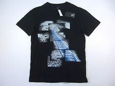 ALEXANDER MCQUEEN 291571RER70 LARGE TRAIN TRACKS ART PHOTOGRAPHY RARE TSHIRT NWT