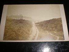 Cdv old photograph Scarborough view from the valley bridge c1870s