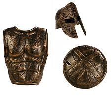 Roman Costume Gladiator Armor Spartan Greek Warrior Helmet Set Shield