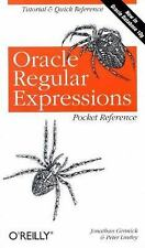Oracle Regular Expressions Pocket Reference [Paperback] by Jonathan Gennick