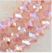 Hot Wholesale 8MM 70pcs AB Pink Crystal Faceted Rondelle Loose Beads 04