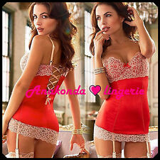 Diane Sexy SLEEPWEAR Lingerie Sex Toy Woman Lace RED Dress HOT Swing Club Femdom