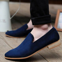 New British Men's Casual Slip On Loafer Shoes Moccasins Driving Suede Shoes