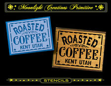 Primitive Stencil~Vintage Style~ROASTED COFFEE~Classic Old Font Typography