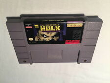 The Incredible Hulk (Super Nintendo SNES) Game Cartridge Excellent!