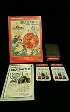 Intellivision Matel 1980 Sea Battle Complete With Box 2 Overlays And Manual