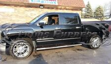 2014-2017 Chevy Silverado/Sierra Crew Cab Body Side Molding Overlay Chrome 4Pc