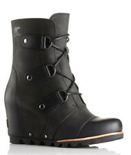 Sorel Joan of Arctic Wedge Mid Boots 7 Black - NIB