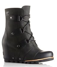 Sorel Joan of Arctic Wedge Mid Boots 7.5 Black - NIB