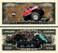 Monster Trucks Million Dollar Collectible Funny Money Novelty Note