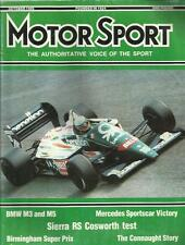MOTOR SPORT OCT 1986 BMW M3 AND M5 SIERRA RS COSWORTH TEST CONNAUGHT STORY