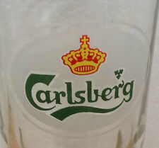 VINTAGE CARLSBERG BEER GLASS Old Logo Grip Glass Base MALAYSIA