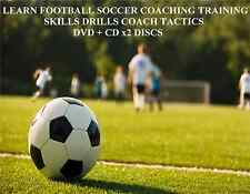 LEARN FOOTBALL SOCCER COACHING TRAINING SKILLS DRILLS COACH TACTICS DVD + CD