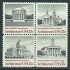 USA - MNH Block of 4 Stamps - Architecture