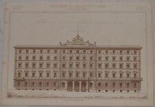 RICORDI DI ARCHITETTURA PROSPETTO ALBERGO ROMA LAZIO ARCHITETTO PODESTI 1894-95