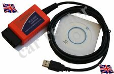 Renault Clio Megane Diagnostic Fault Cable PC Laptop linked Lead USB OBD Scanner