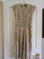 THAI LINES BANGKOK--HAND SCREENED--FLORAL COTTON DRESS---SIZE 8