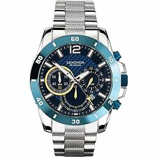 Sekonda Blue Chronograph Dial Gents Watch 3484