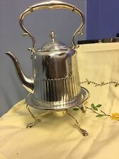 Antique Victorian Half Ribbed Silver Plated Sprite Pot Kettle  K & Co