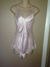VICTORIA SECRET LIGHT PINK LADIES TEDDY LINGERIE BODYSUIT SIZE M.