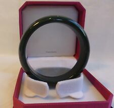 Cetified  light  black HeTian jade bangle bracelet, Gemstone bangle Dia 56mm