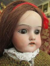 "Antique Armand Marseille 370 4/0 Bisque Head Kid Leather Body Doll 18"" High"