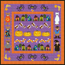 "~ NEW APPLIQUE QUILT PATTERN ~ HALLOWEEN ROW BY ROW ~ 82"" X 82""  ~"