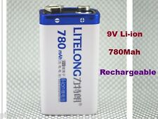 1 Batterie 9V Li-ion 780Mah Rechargeable 6LR61 6F22 Accu Battery Pile Accus PP3
