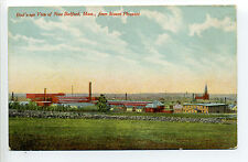 New Bedford MA Mass Bird's Eye View from Mt Pleasant, mills, smokestacks, early