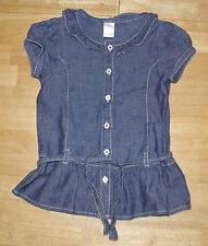 GYMBOREE SHOWERS OF FLOWERS BLUE CHAMBRAY RUFFLE TOP  GIRLS 6  SPRING FALL