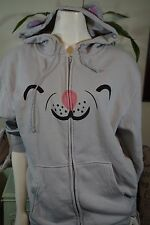 The Big Bang Theory Soft Kitty Zippered Hoodie Ears Paws Tail Sz Medium