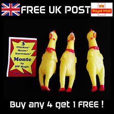 3 Chicken Monte by BW Magic - Comedy Close-Up or Stage Magic Trick - New