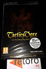 TACTICS OGRE LET US CLING TOGETHER ED. Premium Coleccionista PSP PAL ESPAÑA New