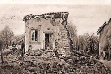 18259 AK Die Trümmer von les Carrières Ruine Grab Kreuz Kranz Zeichung um 1915