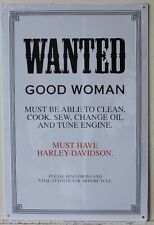 WANTED GOOD WOMEN metal sign must have harley davidson comedy humor men w-11