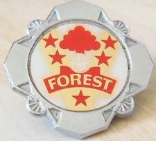 NOTTINGHAM FOREST Vintage 1970s 80s Insert badge Brooch pin Chrome 35mm x 35mm