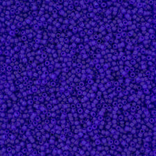 Toho Seed Beads 15/0 Transparent Frosted Dark Sapphire 8.2g Tube (L12/2)