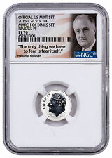 2015-P Silver Roosevelt Dime Reverse Proof Frm March Dimes Set NGC PF70 SKU45411