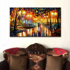 Modern Abstract Large Wall Decor Oil Painting On Canvas,Park Walking(No Frame)