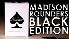 Madison Rounders Black Deck Playing Cards Poker Size USPCC Custom Ellusionist