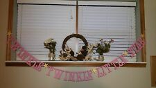 Pink Twinkle Twinkle Little Star Baby Banner for Baby Shower Decoration Nursery